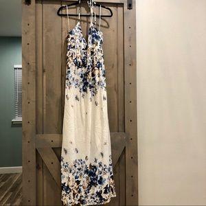 Chelsea & Violet - Floral Halter Maxi Dress